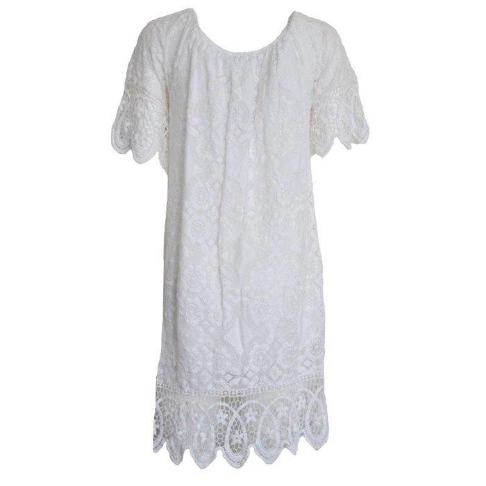 Kanten jurkje wit