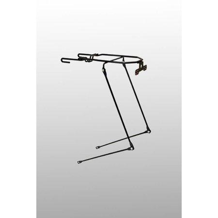 Steco Tas-Mee dragerverlenger matzwart - voor dubbele fietstas