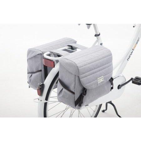 New Looxs Dubbele fietstas Mondi Joy Double 38L Quilted Grey
