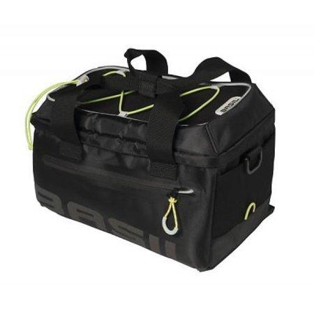 Basil Miles Trunkbag 7L Bagagedragertas Black lime