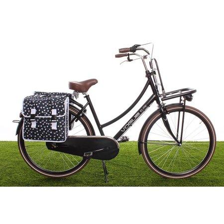 Basil Dubbele fietstas Mara XL Double Bag Heart dots