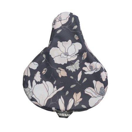 Basil Zadeldekje Magnolia Pastel powders - waterafstotende, bloemrijke zadelhoes fiets
