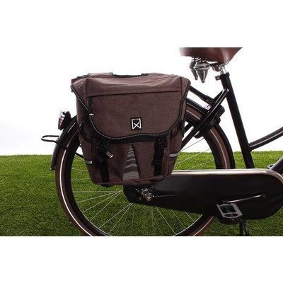 Willex Dubbele fietstas Bagagetas S 1200 20L Bruin