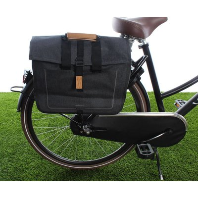 Basil Urban Dry Business bag Charcoal mêlee 20L