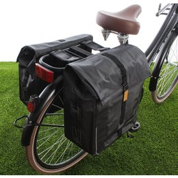 Basil Dubbele fietstas Urban Dry Double bag 50L Solid black