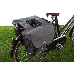 Willex Dubbele fietstas Bagagetas S 1200 20L Antraciet