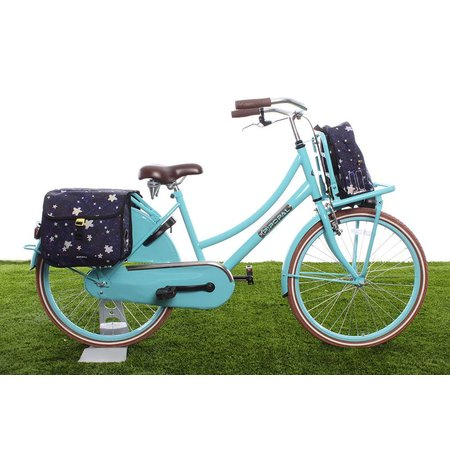 Basil Kinderfietstas Stardust Double bag Nightshade 20L