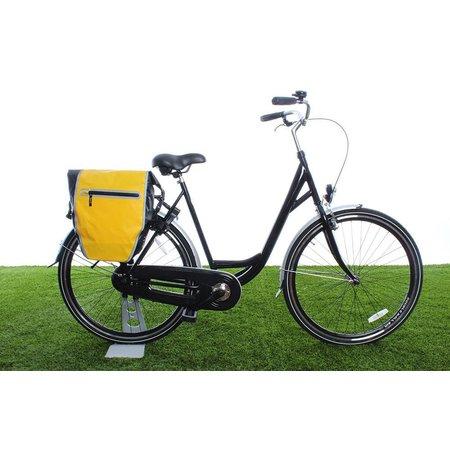 Beck Enkele fietstas DR.Y 20L Matzwart/geel