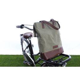 Cortina Oslo Shopper Bag 18L Army green/Brown