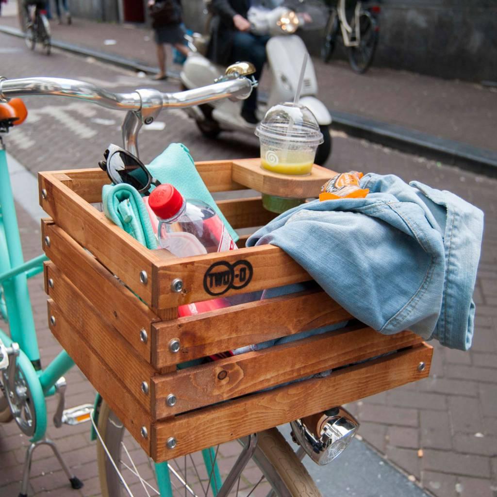 TWO-O fietskrat met bekerhouder