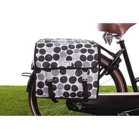 New Looxs Dubbele fietstas Fiori Double 30L Dots Black