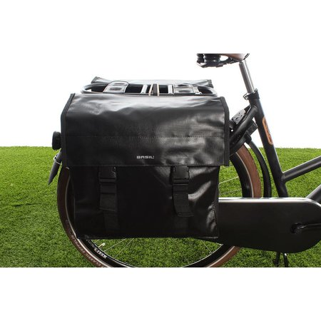 Basil Urban Load Dubbele fietstas 48-53L Zwart