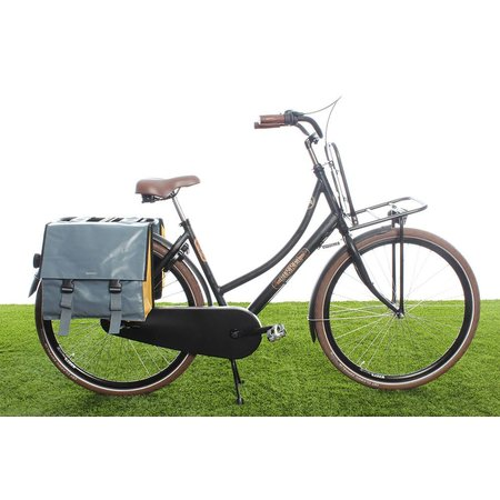 Basil Urban Load Dubbele fietstas 48-53L Grijs-goud