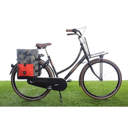 AGU Dubbele fietstas Urban Trend H2O Roll-top 28L Camo Oranje - waterdicht
