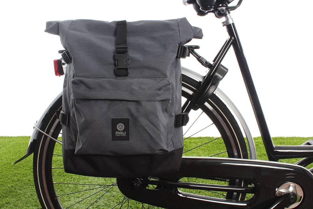 bc11fc80620 AGU Enkele fietstas Urban Trend H2O Roll-top 14L - KLICKfix - waterdicht -  grijs