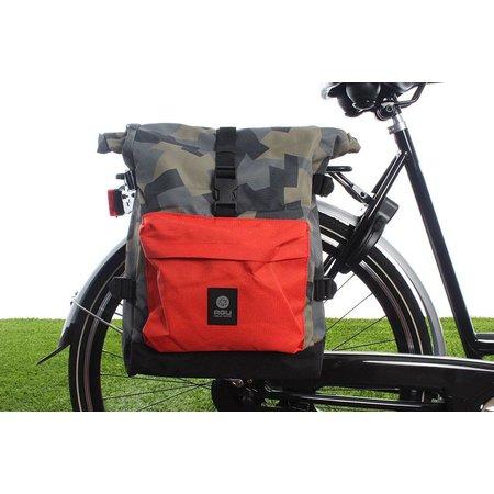 AGU Enkele fietstas Urban Trend H2O Roll-top 26L - KLICKfix - waterdicht - camo oranje