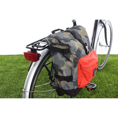 AGU Enkele fietstas Urban Trend H2O Roll-top 14L - KLICKfix - waterdicht - camo oranje