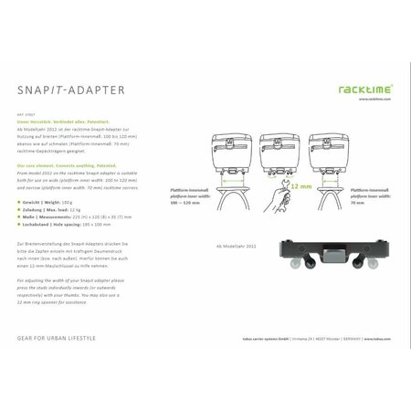 Racktime Snap-it adapter