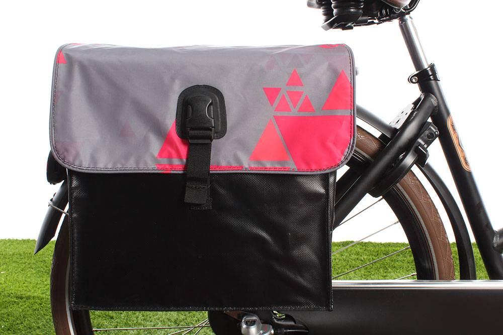 Dubbele fietstas 35L Small Tangram kopen met voordeel