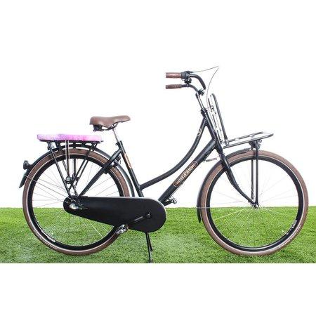 Hooodie Cushie Watercolors - zacht en hip fietskussentje voor op bagagedrager