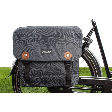 XLC Dubbele fietstas Lux 34L Antraciet