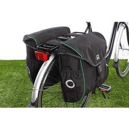 Willex Dubbele fietstas Bagagetas 300 38L Zwart/groen