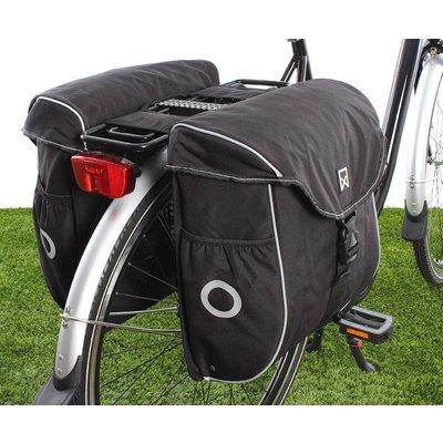 Willex Dubbele fietstas Bagagetas 300 38L Zwart/zilver