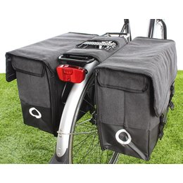 Willex Dubbele fietstas Canvas Tas Plus 48L Zwart