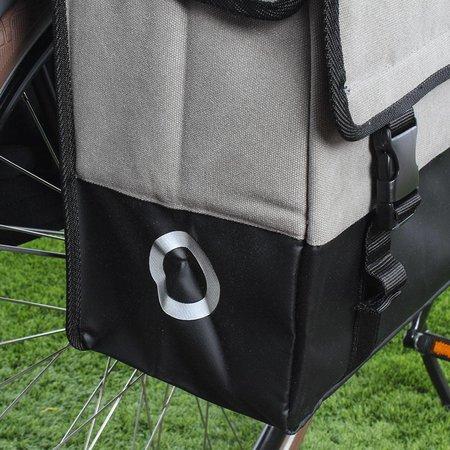 Willex Dubbele fietstas Canvas Tas Plus 48L Grijs/Matzwart
