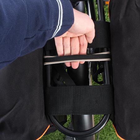 Beck Dubbele fietstas SPRTV Oranje Bies
