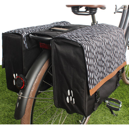 FastRider Dubbele fietstas Nara 33L Zwart