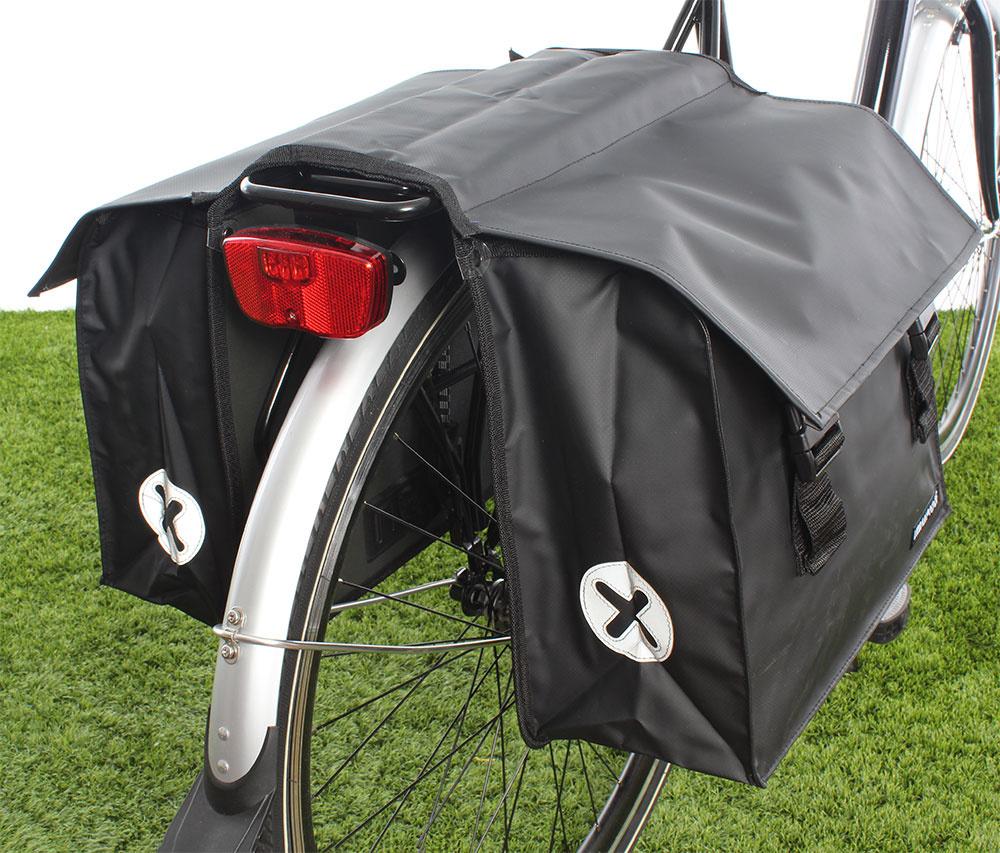 Dubbele fietstas 40L Black kopen met voordeel