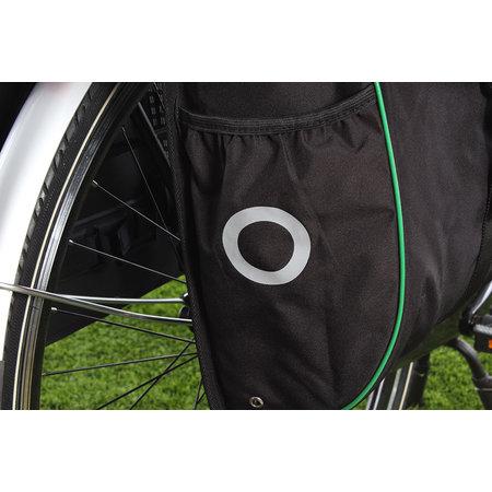 Willex Dubbele fietstas Bagagetas 300 Flexi 23L Zwart/groen
