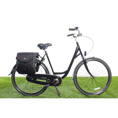 Willex Dubbele fietstas Bagagetas 300 Flexi 23L Zwart/zilver