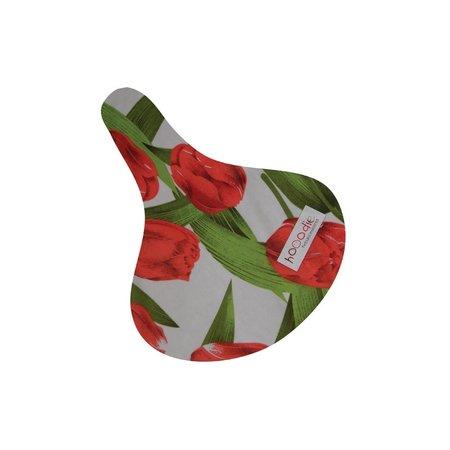 Hooodie Zadeldekje Saddle Tulips - waterafstotende zadelhoes