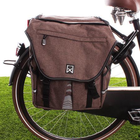 Willex Dubbele fietstas Bagagetas XL 1200 65L Afneembaar Bovenvak Bruin