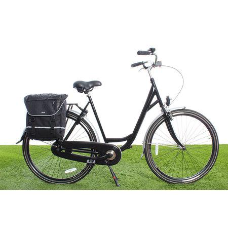 Beck Enkele fietstas SPRTV Single Print QR 15L Zwart