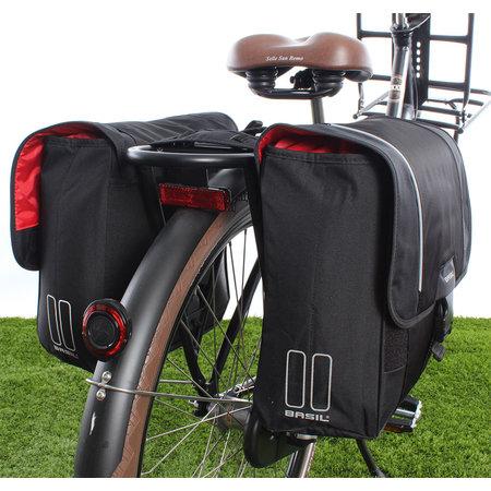 Basil Dubbele Fietstas Sport Design 32L Zwart