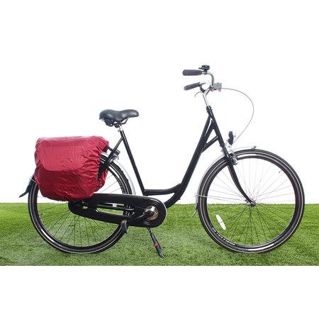 Beck Dubbele fietstas SPRTV Print EAN 30L Zwart