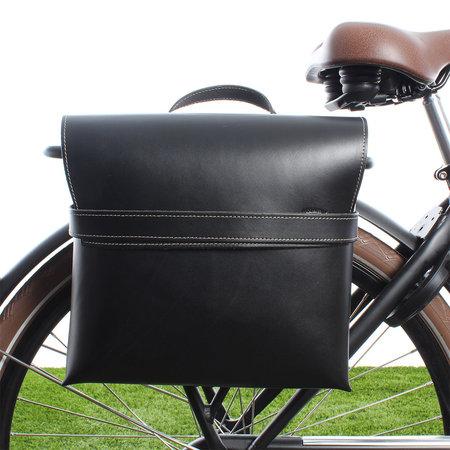 Selle Monte Grappa Enkele fietstas Leather Bag Black 7,5L Zwart