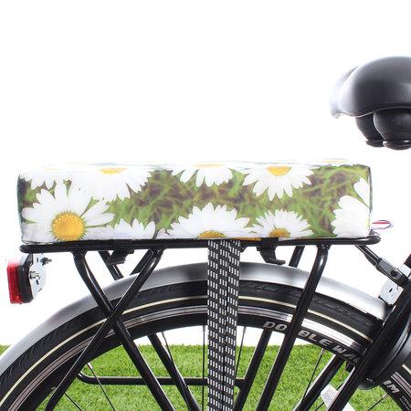 Hooodie Big Cushie Daisy's- zacht fietskussentje voor op bagagedrager