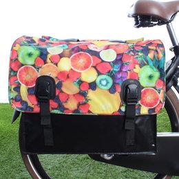 Beck Dubbele fietstas 46L Classic Fruit