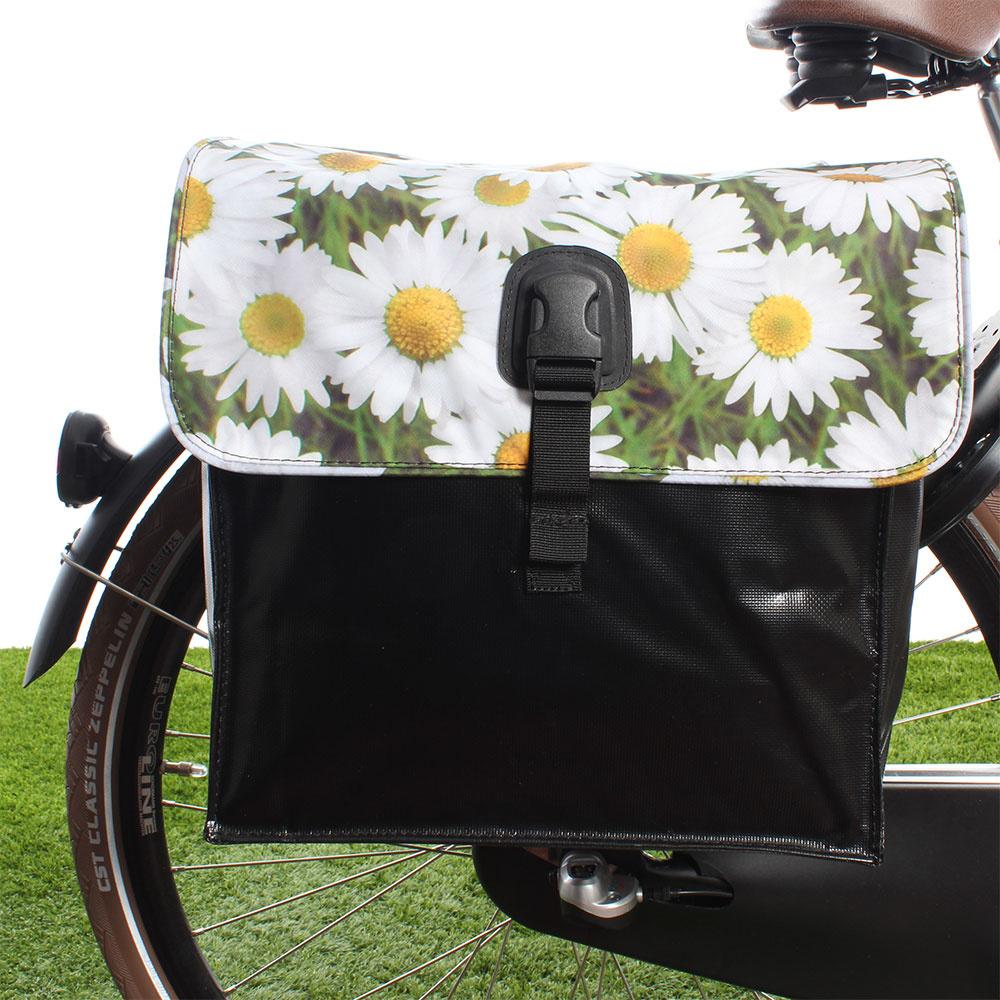 Dubbele fietstas 35L Small Daisy's kopen met voordeel