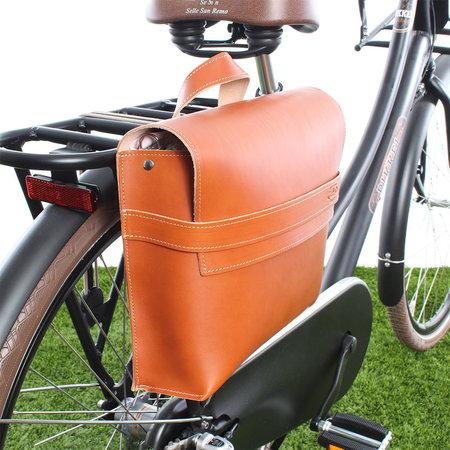 Selle Monte Grappa Enkele fietstas Leather Bag Brandy 7,5L Bruin