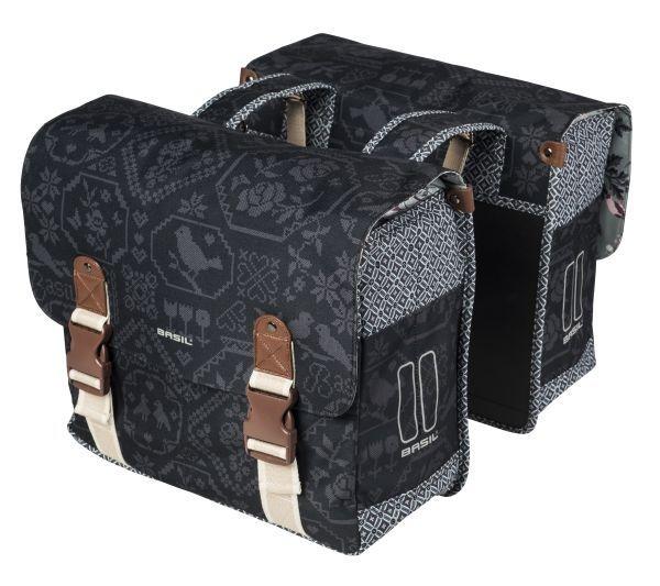 Basil Dubbele Fietstas Bohème Double bag 35L Charcoal