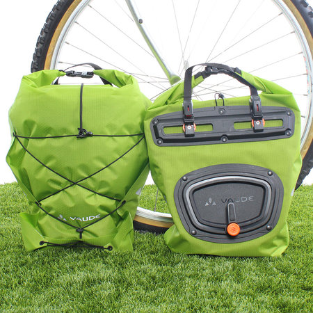 Vaude Dubbele fietstas Aqua Front Light 21L Groen