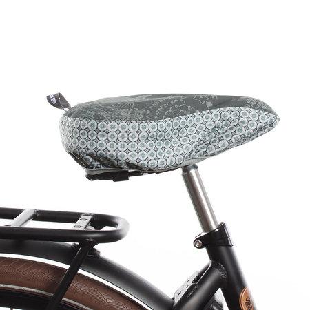 Basil Zadeldekje Bohème Forest Green  - waterafstotende en hippe zadelhoes fiets