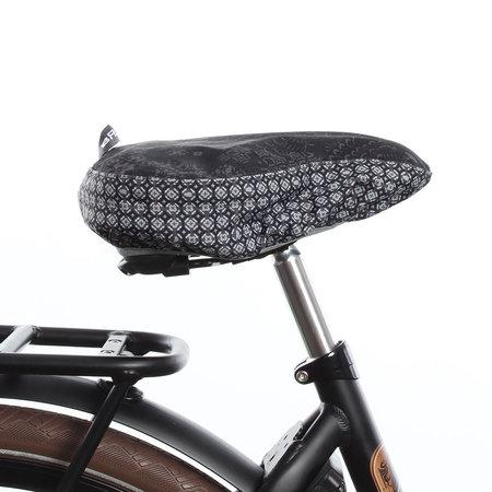 Basil Zadeldekje Bohème Charcoal - waterafstotende en hippe zadelhoes fiets