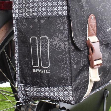 Basil Dubbele Fietstas Bohème Charcoal - 32L