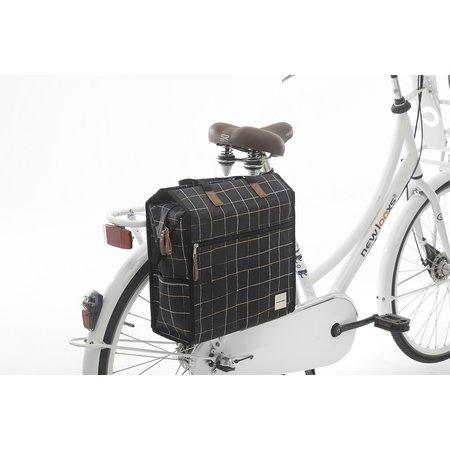 New Looxs Enkele fietstas/pakaftas Lilly 18L Check Black